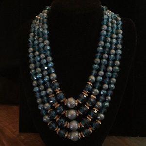 Vintage Antique 4 Strand Necklace
